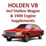 Holden Commodore VB Manual all Supplements