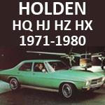 Holden HQ HJ HX HZ