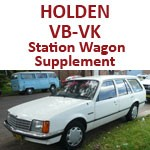 Holden Commodore VB-VK Station Wagon Supplement