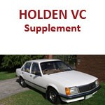 Holden Commodore VC Supplement