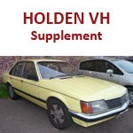 Holden Commodore VH Supplement