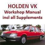 Holden Commodore VK including all Supplements